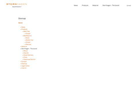 Screenshot of Site Map Page sternhagen.com - Sternhagen - captured July 21, 2016