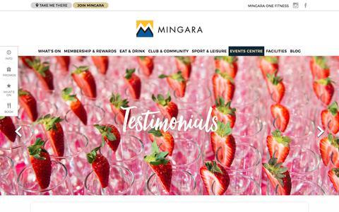 Screenshot of Testimonials Page mingara.com.au - Testimonials - Mingara Recreation Club - captured Oct. 19, 2017
