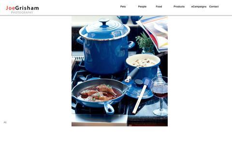 Screenshot of Products Page joegrisham.com - Joe Grisham Portfolio - Product Advertising, Lifestyle, Corporate, Portrait and Magazine Editorial Dallas Photographer - captured Nov. 3, 2018