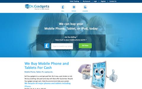 Screenshot of Home Page Blog Press Page doctorgadgets.co.uk - Sell Mobile Phones | Recycle Mobile Phone | Sell mobile for cash - captured Oct. 5, 2014