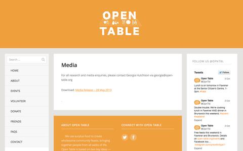 Screenshot of Press Page open-table.org - Media | Open Table - captured Oct. 9, 2014