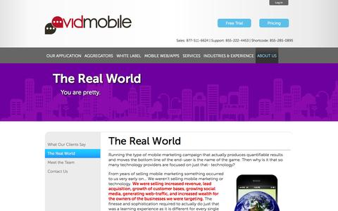 Screenshot of About Page avidmobile.com - AvidMobile | Mobile Marketing In The Real World - captured Sept. 23, 2014