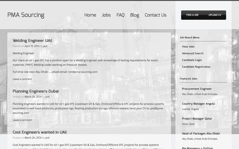 Screenshot of Blog pma-sourcing.com - Blog Archives | PMA Sourcing - captured Oct. 9, 2014