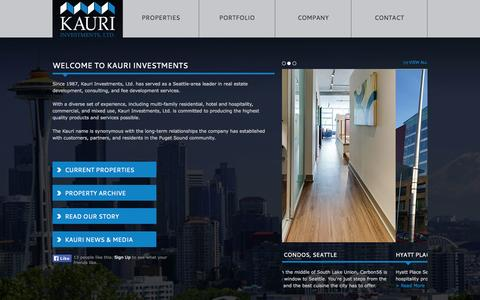 Screenshot of Home Page kauri.com - Welcome to Kauri Investments - captured Oct. 6, 2014
