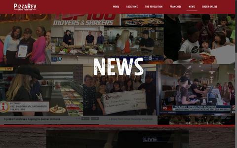 Screenshot of Press Page pizzarev.com - News - PizzaRev - captured May 18, 2017