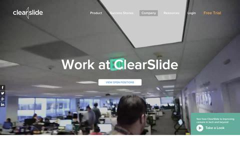 Screenshot of Jobs Page clearslide.com - We're Hiring, ClearSlide Careers - captured Oct. 21, 2015