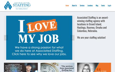 Screenshot of Home Page associated-staffing.com - Associated Staffing, Inc. - captured Nov. 4, 2018