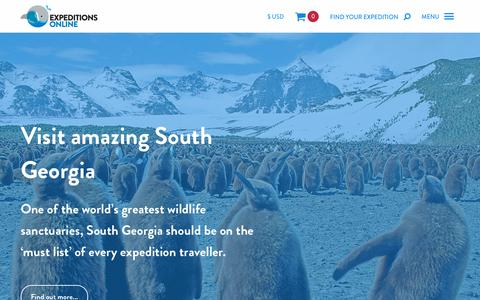 Screenshot of Home Page expeditionsonline.com - Arctic and Antarctica Polar Cruises & Tours | Expeditions Online - captured July 24, 2018