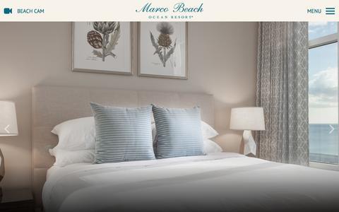 Screenshot of Home Page marcoresort.com - Marco Island Beach Hotels and Resorts - Marco Beach Ocean Resort - captured Nov. 17, 2016