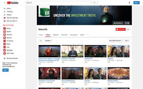 Manulife  - YouTube