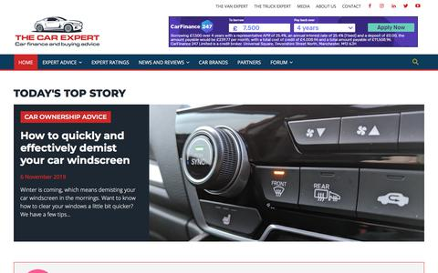 Screenshot of Home Page thecarexpert.co.uk - The Car Expert | Car finance and car buying advice - captured Nov. 9, 2019