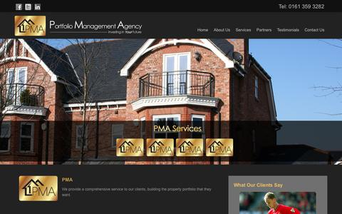 Screenshot of Services Page pmagency.co.uk - Services - PMA Agency - Portfolio Management Agency Manchester - captured Oct. 27, 2014