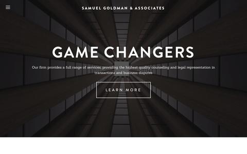 Screenshot of Home Page sgalaw.com - Samuel Goldman & Associates - captured Sept. 11, 2015