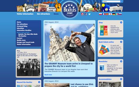 Screenshot of Press Page beatlesstory.com - Latest news | The Beatles Story, Liverpool - captured Oct. 7, 2014