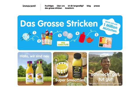 Screenshot of Home Page innocentsmoothies.ch - innocent – Obst zum Trinken - captured March 6, 2016