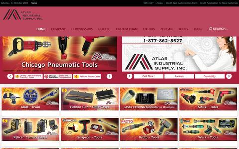 Screenshot of Home Page aishouston.com - HOME - captured Oct. 4, 2014