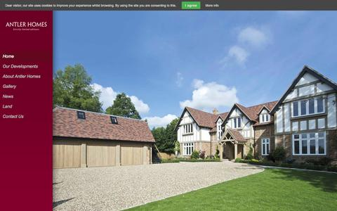 Screenshot of Site Map Page antlerhomes.co.uk - Antler Homes | Luxury Property Developers: Home Page - captured Sept. 30, 2014