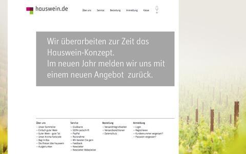 Screenshot of Home Page hauswein.de - Hauswein -hauswein.de | Bag In Box Wein Shop - captured June 10, 2016