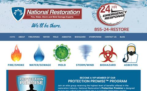 Screenshot of Home Page firesmokewater.com - Disaster Restoration Specialists | NJ | PA | DE - captured Nov. 15, 2018
