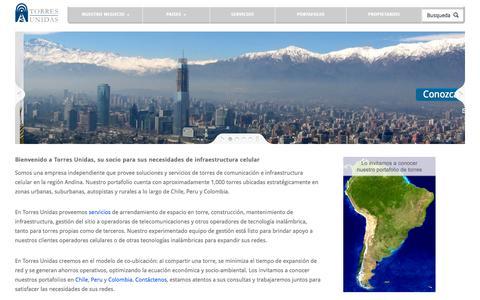 Screenshot of Home Page torresunidas.com - Torres Unidas - captured Oct. 8, 2014
