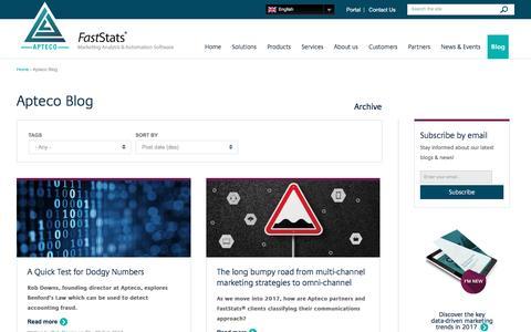 Screenshot of Blog apteco.com - Apteco Blog | Apteco - captured March 6, 2017