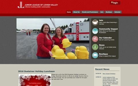 Screenshot of Login Page jllvpa.org - Home - The Junior League of the Lehigh Valley - captured Nov. 27, 2016