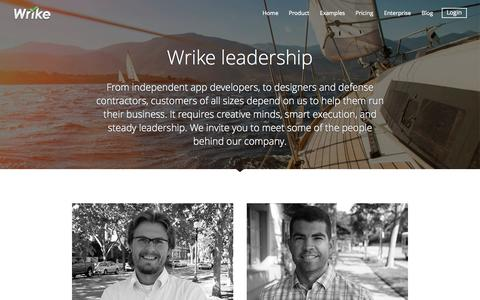 Screenshot of Team Page wrike.com - Wrike Leadership - captured Nov. 17, 2015