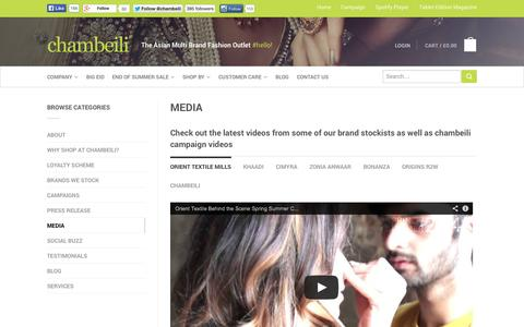 Screenshot of Press Page chambeili.com - Media | chambeili® - captured Sept. 30, 2014