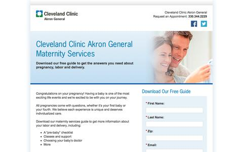 Screenshot of Landing Page clevelandclinic.org - Treatment Guide | Cleveland Clinic - captured Sept. 19, 2018