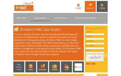 Screenshot of Case Studies Page 2b-advice.com - 2B Advice LLC - english - Case Studies - captured June 11, 2016