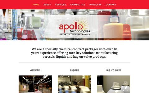 Screenshot of Home Page apolloind.com - Apollo Technologies - captured Oct. 4, 2014