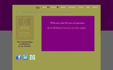 Screenshot of Home Page keethbuilding.com - Keeth Building Contractors - Home - captured Oct. 6, 2014