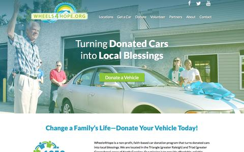 Screenshot of Locations Page wheels4hope.org - Wheels 4 Hope | Recycling Cars. Changing Lives - captured Oct. 29, 2014