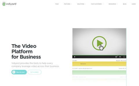 Screenshot of Home Page vidyard.com - Welcome - Vidyard - captured Jan. 4, 2017