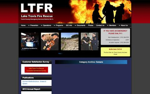 Screenshot of Jobs Page ltfr.org - Careers | Travis County ESD No. 6 - captured Oct. 1, 2014