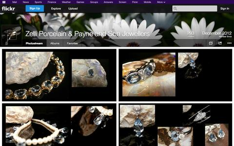 Screenshot of Flickr Page flickr.com - Flickr: Zelli Porcelain & Payne and Son Jewellers' Photostream - captured Oct. 26, 2014