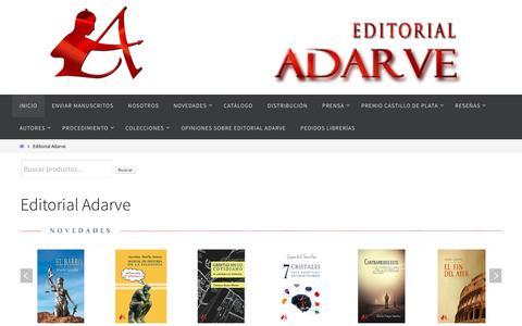Screenshot of Home Page editorial-adarve.com - Editoriales España : editorial-adarve.com - captured Oct. 22, 2018