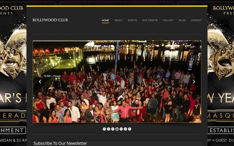 Screenshot of Home Page bollywoodclub.com.au - Australia's #1 Bollywood Club By Raj Khanna - captured Jan. 6, 2016