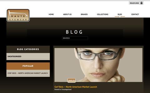 Screenshot of Blog hauteeyewear.com - Blog - Haute Eyewear - captured Sept. 29, 2014