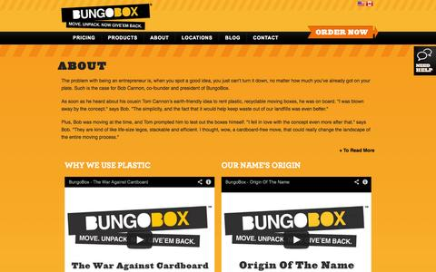 Screenshot of About Page bungobox.com - About | BungoBox - captured Sept. 30, 2014