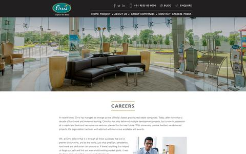 Screenshot of Jobs Page orris.in - Careers at Orris | Jobs In real Estate - captured Oct. 19, 2018