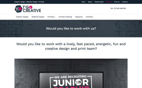 Screenshot of Signup Page tgocreative.co.uk - Graphic Design and Website Design Jobs in Perthshire | T'Go Creative - Graphic Design, Website Design and Printers in Perth - captured Dec. 13, 2018
