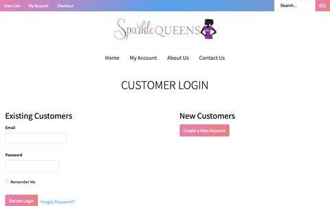 Screenshot of Login Page corecommerce.com - Customer Login - captured Oct. 21, 2018