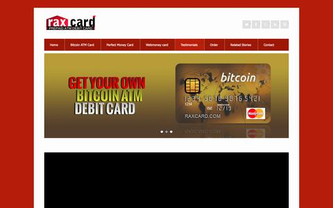 Screenshot of Testimonials Page raxcard.com - Testimonial | Coinbase Bitcoin Card Blockchain Bitcoins Card - captured Nov. 24, 2018