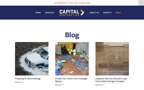 Screenshot of Blog capital-ga.com - Blog — Capital Restoration - captured Aug. 22, 2019
