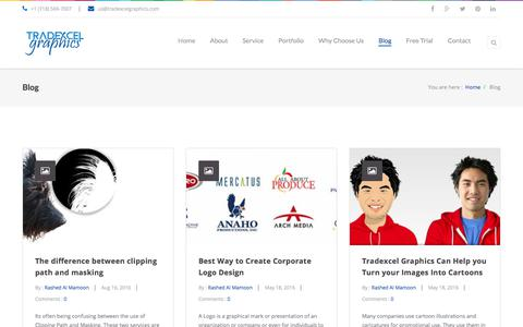 Screenshot of Blog tradexcelgraphics.com - Latest News and Tutorial   TradeXcel Graphics Ltd - captured Nov. 9, 2017