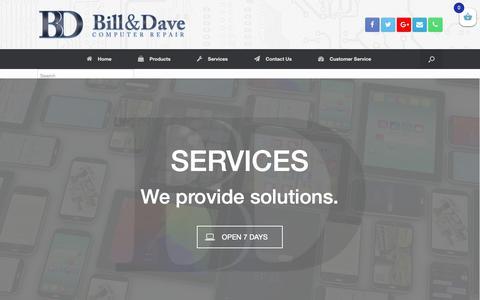 Screenshot of Services Page billanddave.ca - Our Services - Bill & Dave Computer Repair | Ottawa, Canada - captured Dec. 18, 2018