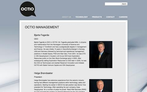 Screenshot of Team Page octio.com - OCTIO Management | Octio - captured Dec. 2, 2016