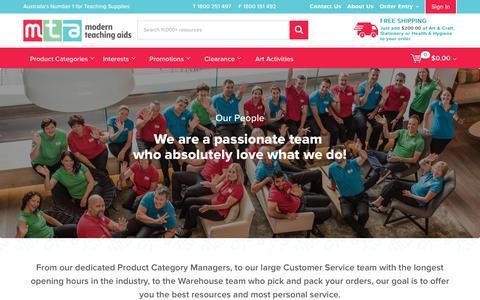 Screenshot of Team Page teaching.com.au - Our People - captured Nov. 29, 2016