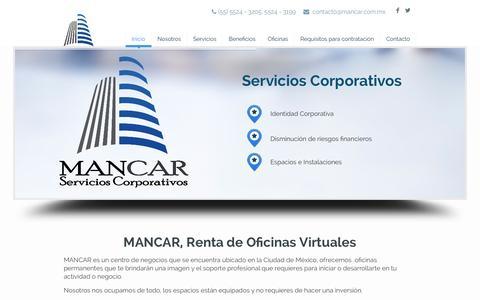 Screenshot of Home Page mancar.com.mx - Mancar - captured Oct. 3, 2014
